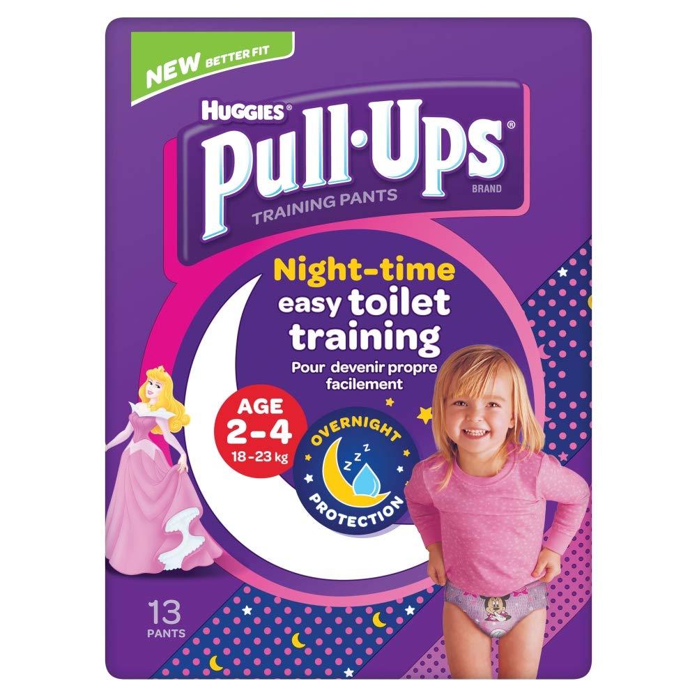 Huggies Pull Ups Night Time Potty Training Pants Girls 2-4 Years 18-23 kg