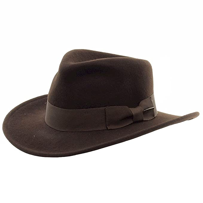 Cappello fedora Indiana Jones originale Dorfman Pacific  Amazon.it   Abbigliamento 404d90d78796