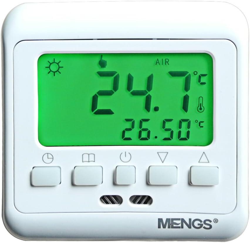 DASKOO C08.H3 Termostato LCD de calefacción programable de 7 días con pantalla para área de negocios de la oficina de la escuela en el hogar