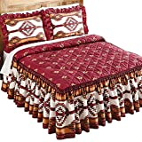 Collections Etc Southwestern Aztec Taos Native American Quilt-Top Lightweight Bedspread, Queen