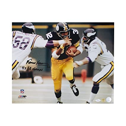 016625802 Franco Harris 4x SB Champs Autographed Pittsburgh Steelers 16x20 Photo -  JSA COA