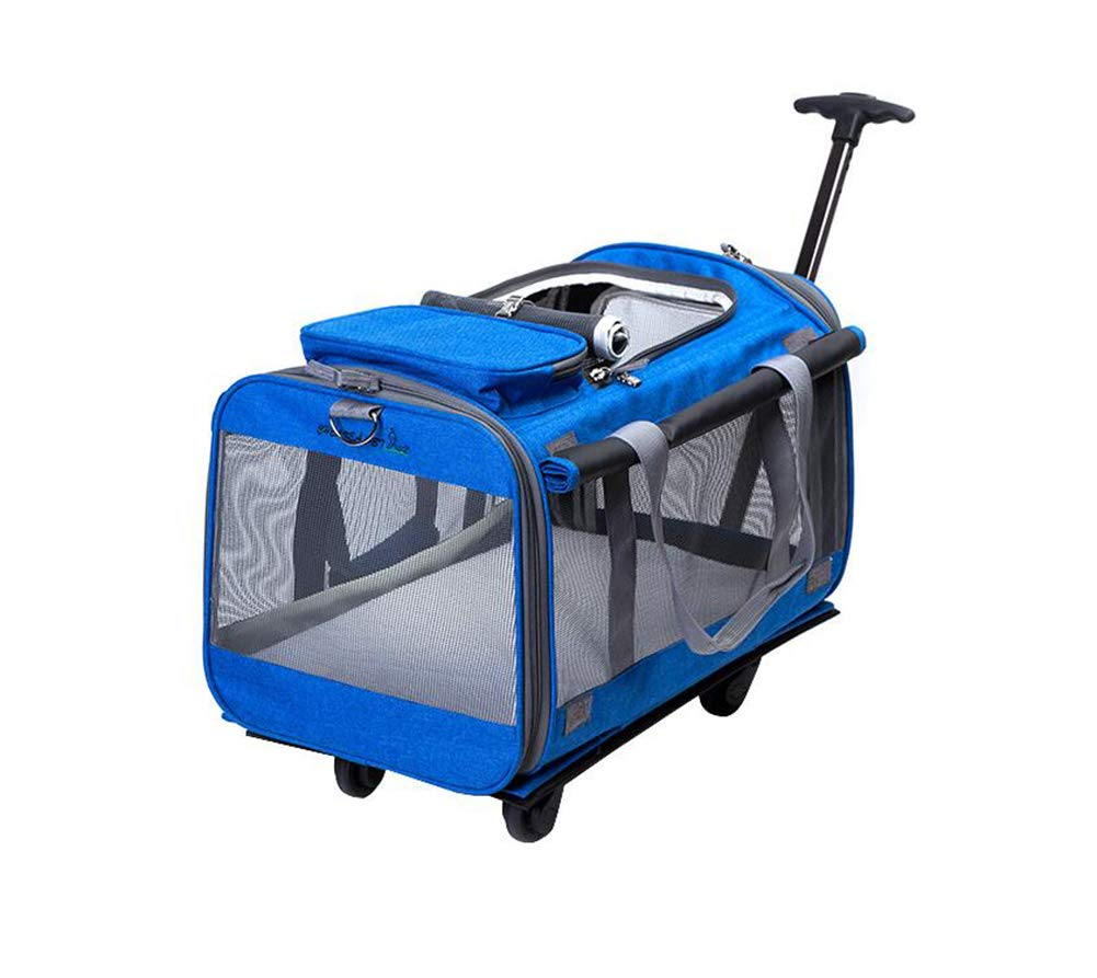 bluee Pet Carrier Bag Strollers For Travel Hiking Camping For Cats Dogs And Other Small Anamial