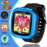 Kids Game Smart Watch, YAKOO 3-12 Year Kids Smartwatch with Camera 1.5'' Touch Screen Boys Game Watch with Alarm Clock Pedometer Girls Sport Digital Wrist Watch Outdoor Children Learning Toy, Black