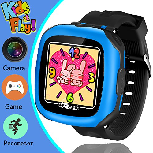 Kids Game Smart Watch, YAKOO 3-12 Year Kids Smartwatch with Camera 1.5'' Touch Screen Boys Game Watch with Alarm Clock Pedometer Girls Sport Digital Wrist Watch Outdoor Children Learning Toy, Black by Yak