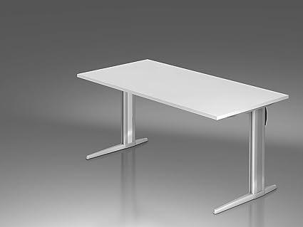 Mesa de escritorio Amstyle Serie XS 160 cm aluminio/madera a ...
