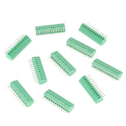 Amazon com: 10Pcs Terminal Block Connectors, 12 Pin 2 54 mm