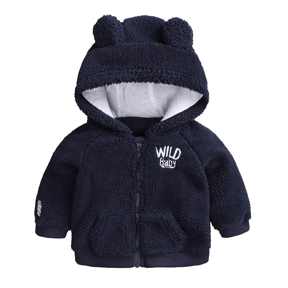 Londony▼ Clearance Sales, Toddler Baby Unisex Jacket Outwear Cartoon Sheep Warm Fleece Zipper Puffer Coat Clothes Londony007