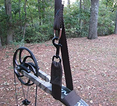 Bow Lift Plus, A new concept in getting your bow or gun to your Tree Stand, Over 27' long. NOW WITH A FREE single shoulder deer drag. Much easier than a bow rope or bow hoist cord.