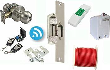 US Door Access Control System+Electric Strike Lock+2 Remote Controls Open Lock