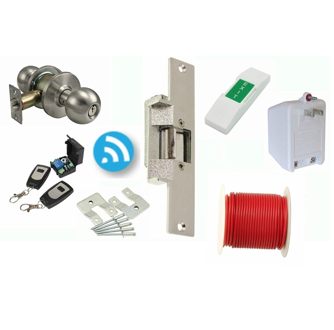 amazoncom electric strike door lock and wireless remote kit 14dlc