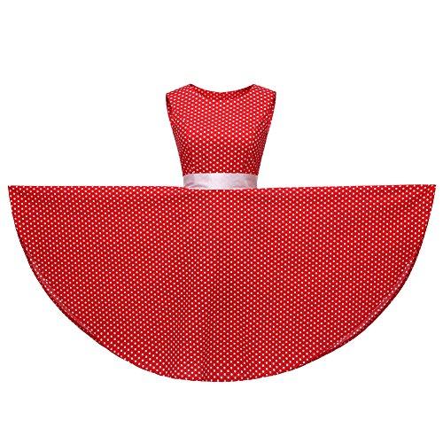 Rouge FiftiesChic Sans Manche Cocktail Femme Robe 0AZqAaSUg