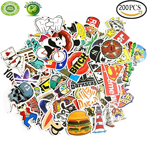 Car Stickers 200pcs , GoodYH Laptop Sticker Waterproofing Vi