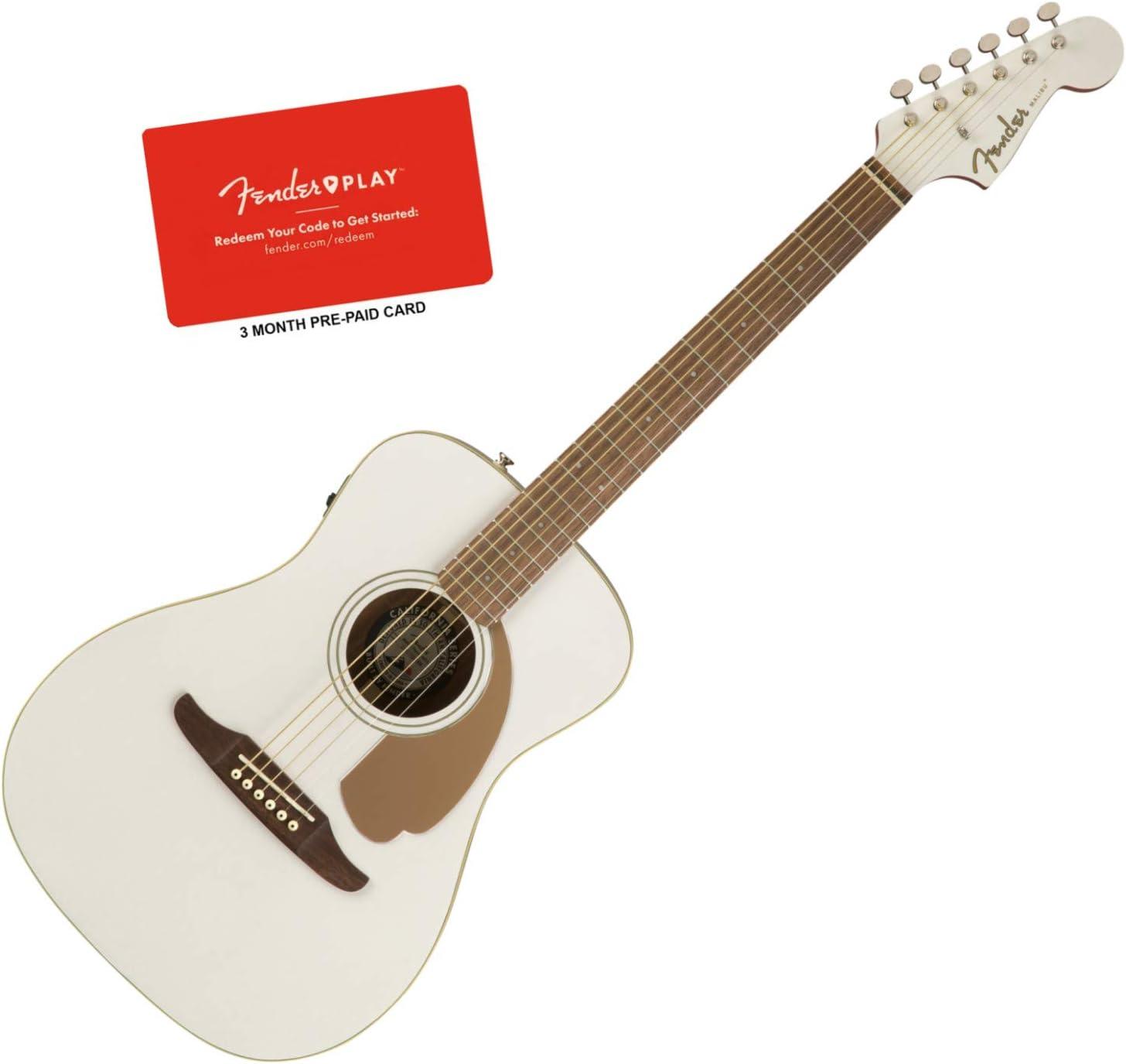 Fender Malibu Player Arctic Gold - Guitarra acústica eléctrica ...