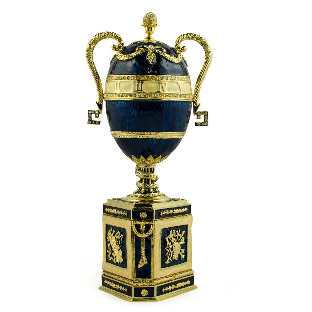 Amazon.com: 1895 azul serpiente reloj huevo de fabergé: Cell ...