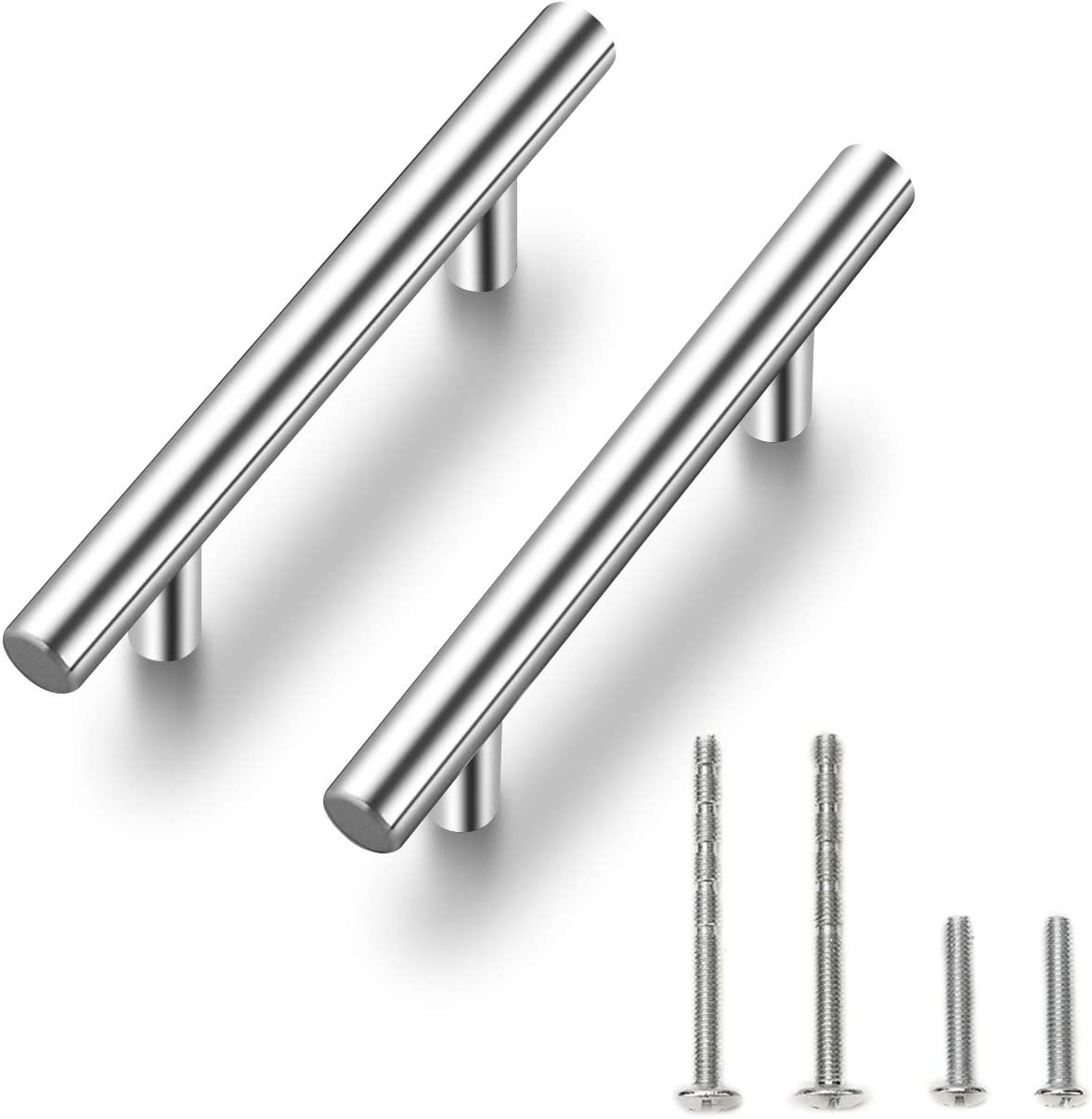 "30 Pack |6'' Cabinet Pulls Brushed Nickel Stainless Steel Kitchen Cupboard Handles Cabinet Handles 6""Length, 3.75"" Hole Center"