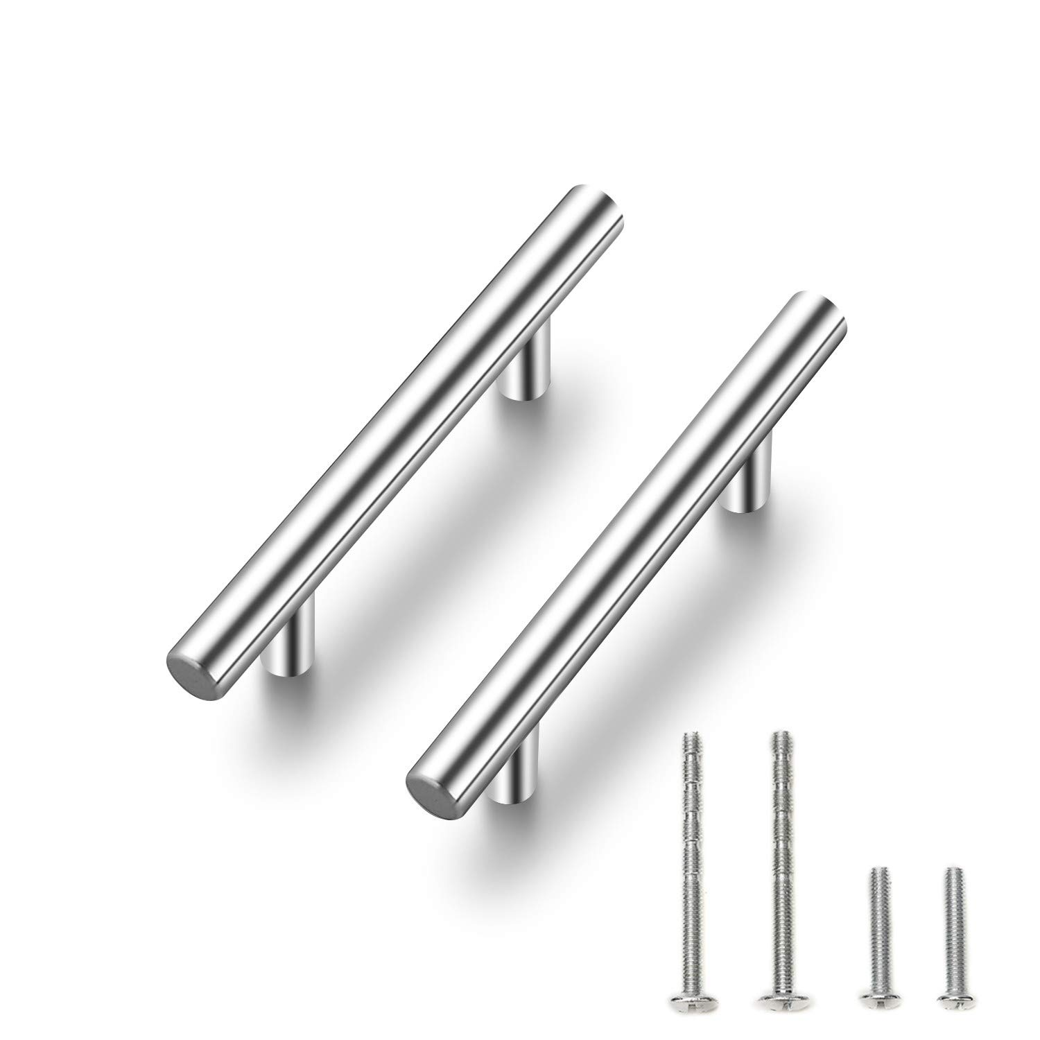 30 Pack | 5'' Cabinet Pulls Brushed Nickel Stainless Steel Kitchen Cupboard Handles Cabinet Handles 5''Length, 3'' Hole Center