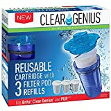 Brita Pitcher Filter Refills Clear Genius Reusable Cartridge With Filterpod Refill SU-31