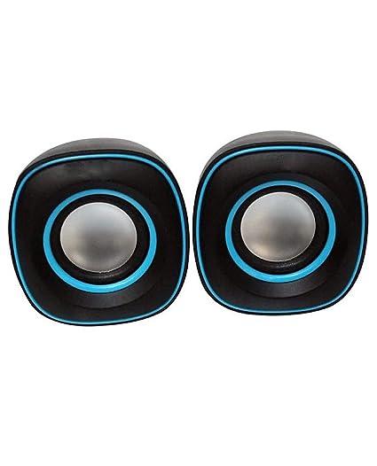 HAPPIESTA TB 015 Mini USB 2.0 Multimedia USB Speaker for PC and Laptop  Blue  PC Speakers