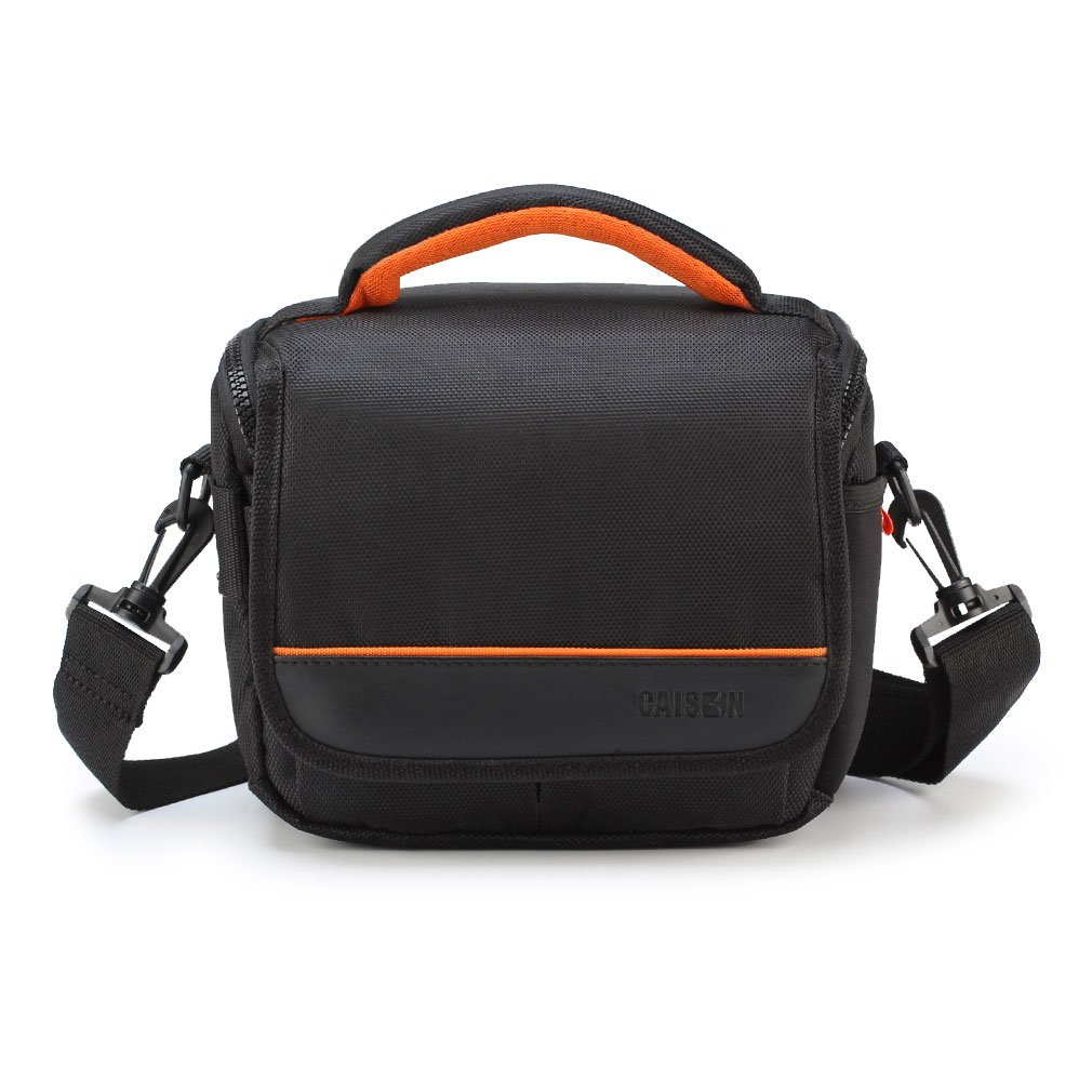 CAISON Camera Case Shoulder Bag For Canon EOS M50 M100 M3 M5 M6 M10 Rebel T7 T6 T5 SL2/Nikon D7500 D5600 D3400 P610 P900/Pansonic Lumix G85 GX8 G5/SONY A6500 A6300 A6000 A7