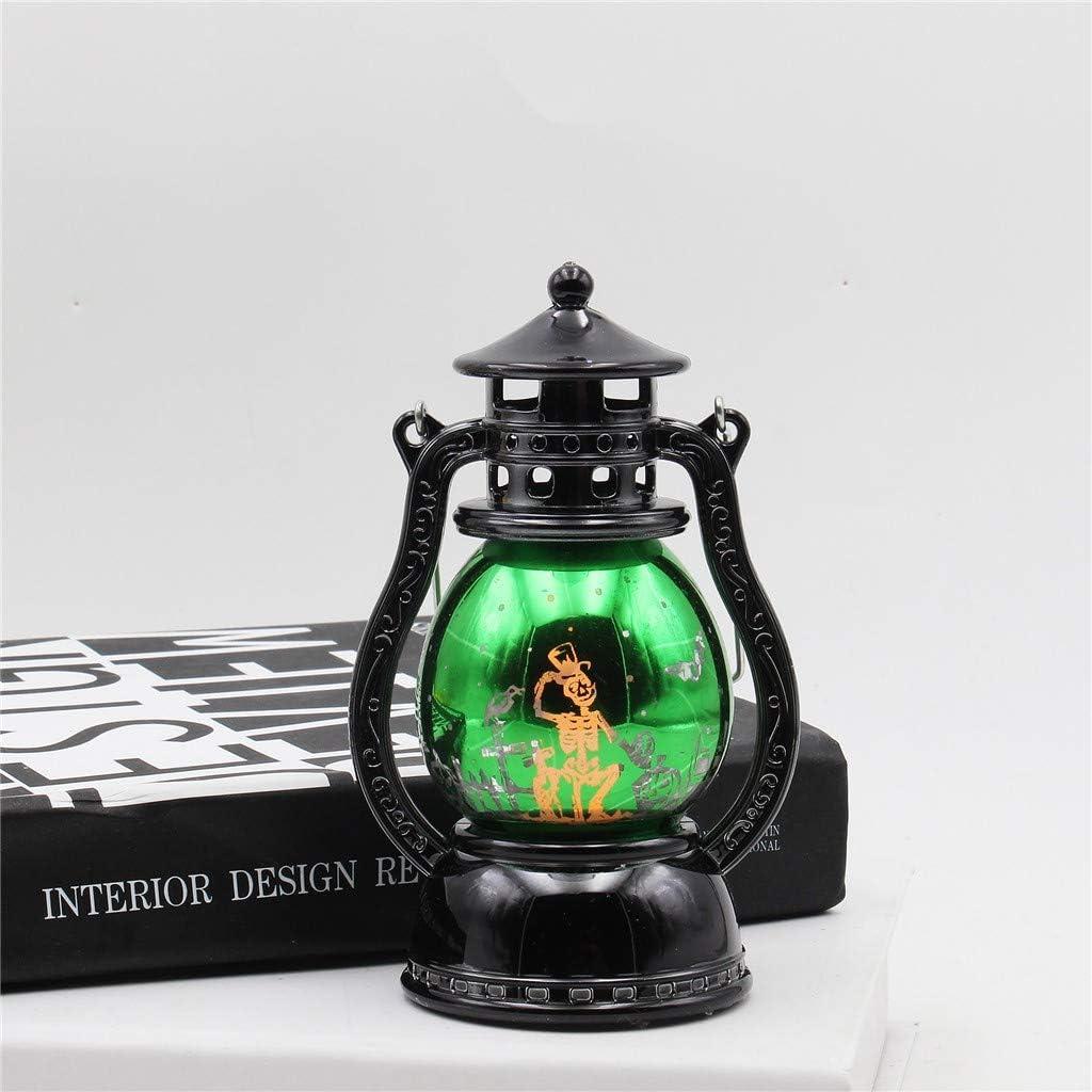 TUDUZ Retro Halloween Deko LED Nachtlicht Hexenlicht Tragbares Licht /Öllampe Lampe H/ängende Laterne Flamme Licht f/ür Halloween Home Tischdekoration B, 16 x 7 cm
