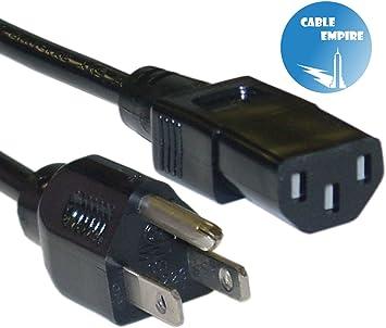 New European 3-Prong AC Power Cord for Computer//Monitor//EU PC ATX Power Supply