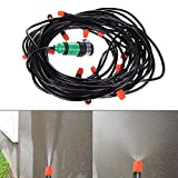 WinnerEco 20M Watering Flower Sprinkler Home Garden Greenhouse Spray Cool Nozzle Set