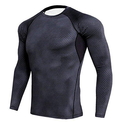 マイクロプロセッサ道消毒剤コンプレッションウェア メンズ 長袖 スポーツシャツ 加圧シャツ トレーニング インナー 冷感 吸汗速乾 高弾力 加圧 S~3XL