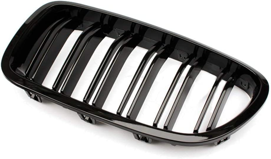 5 Series F10 F18 2010-2015 Gloss Black Front Bumper Hood Kidney Grille Grill