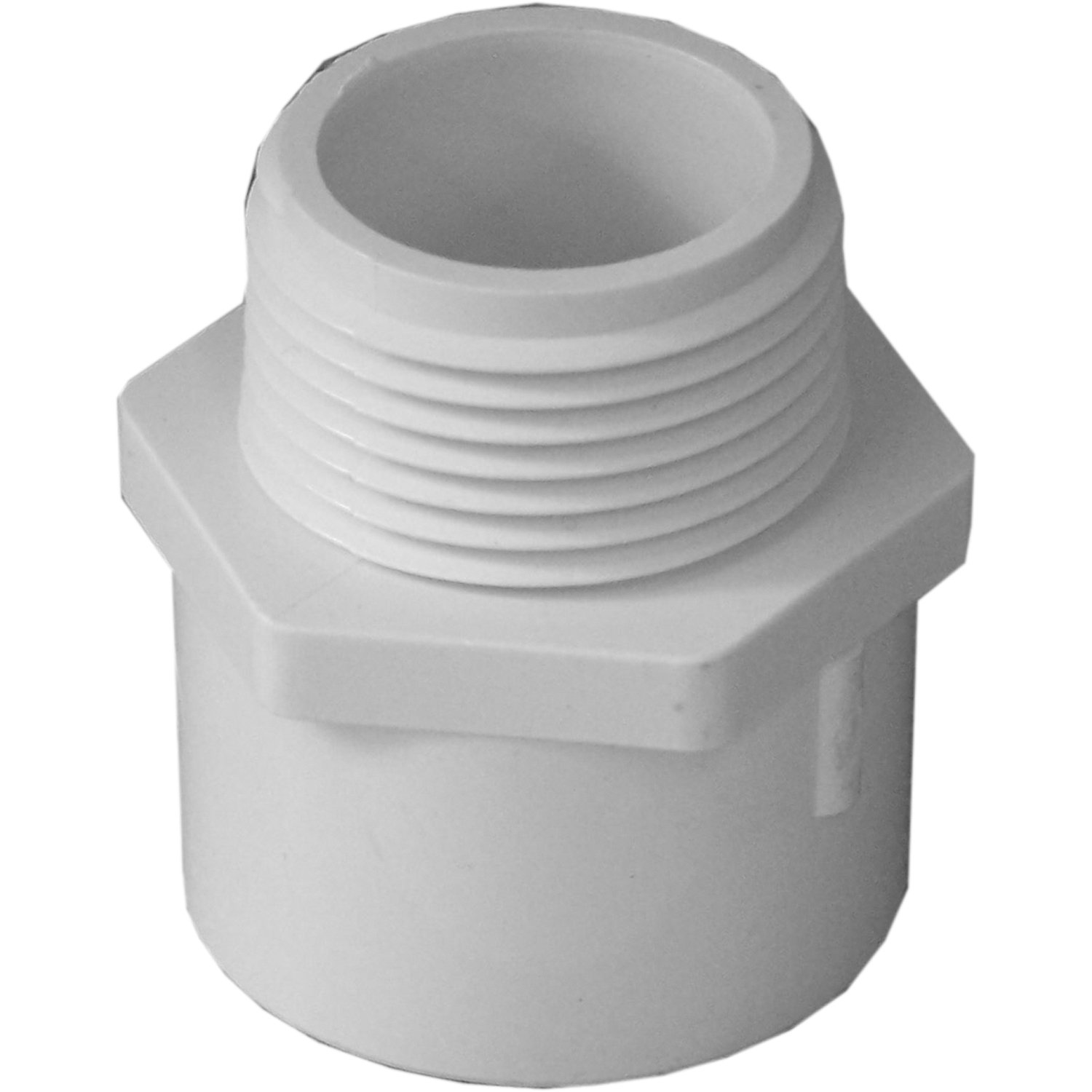 Genova Products 30410CP 1-Inch Male Iron Pipe PVC Pipe Adapter Slip by Male Iron Pipe Thread - 10 Pack