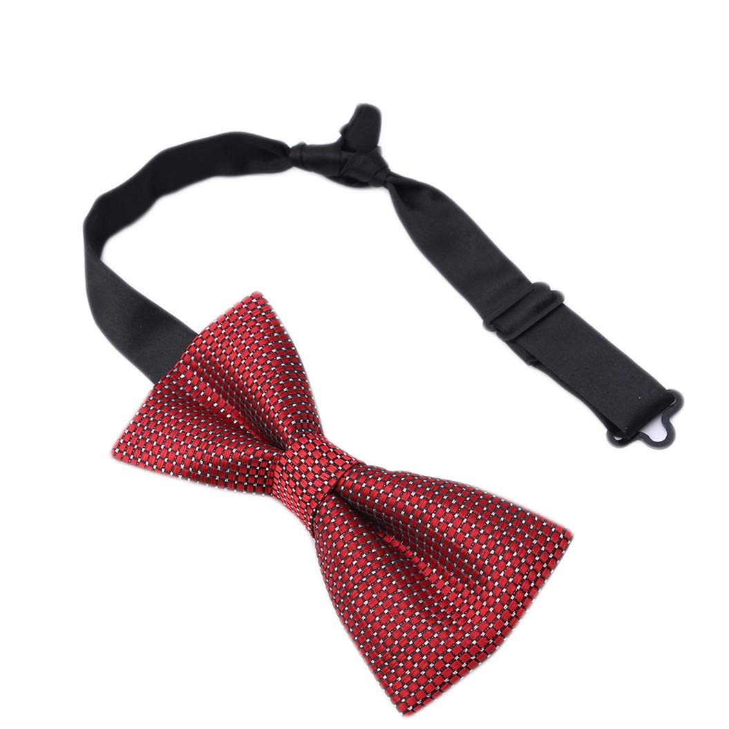 LZIYAN Formal Suit Bow Ties Elegant Adjustable Small Square Pre-tied Bow Ties For Men Boys Fashion Gift For Your Boyfriend Husband,Red small square