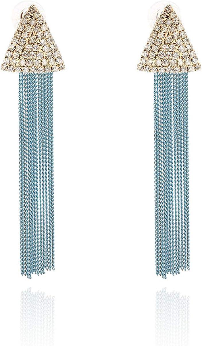 Boho Tassel Earrings \u205d Tiger/'s Eye Earrings \u205d Fringe Earrings \u205d Tassel Jewelry \u205d Crochet Earrings \u205d Triangle Earrings \u205d Ecru Tassel