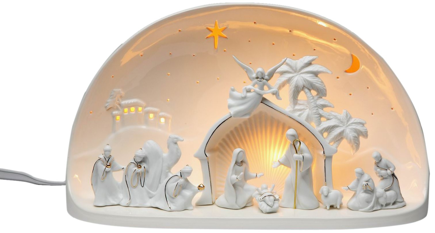 Appletree Design Nativity Scene Dome Lighted, 13-5/8 by 8-1/8-Inch, Includes Light Bulb and Cord