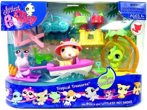 Littlest Pet Shop Themed G3 Playpack - TROPICAL TREASURE by Hasbro