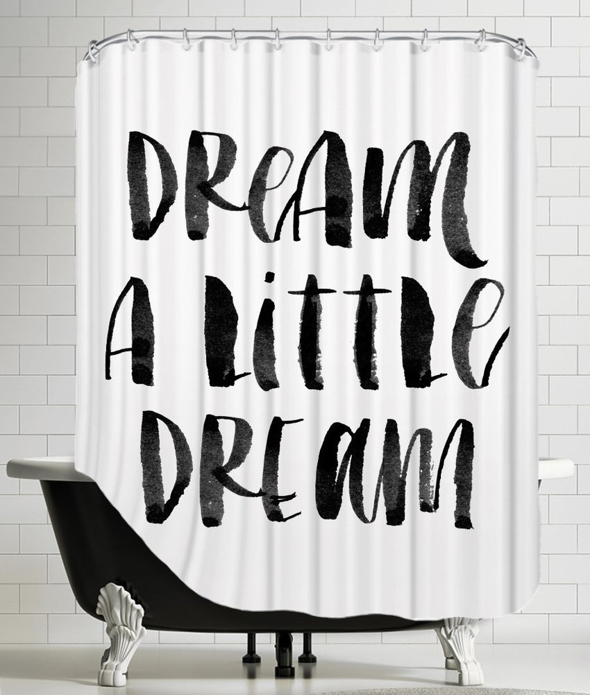 Amazon American Flat Dream A Little Watercolor Shower Curtain By Brett Wilson 71 X 74 Home Kitchen