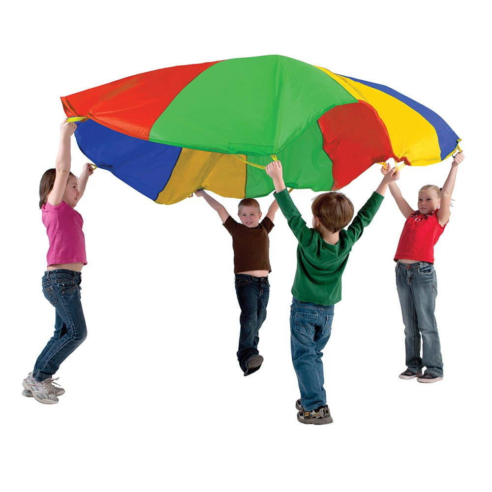 Amazon.com: Pacific Play Tents Funchute 6 Foot Kids Parachute with ...