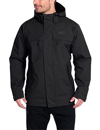 Jack Wolfskin Mens North Country Jacket, Small, Black
