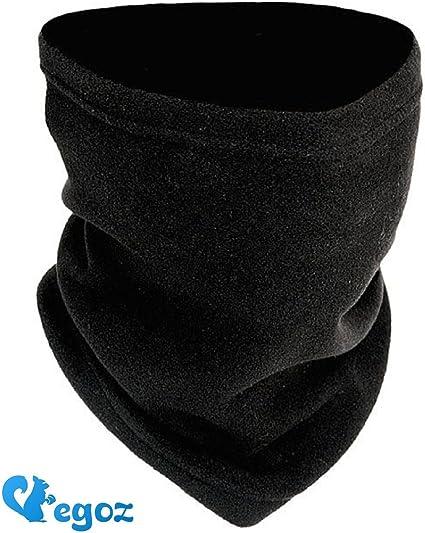 EGOZ One Size 4-in-1 Fleece Polar Neck Warmer//Face Mask//Hat Snood//Scarf Black