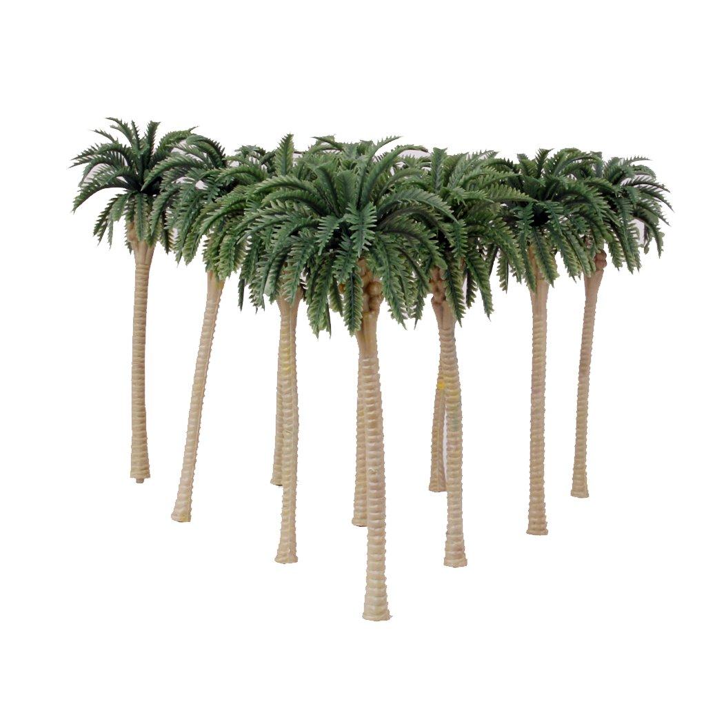 10pcs Palme Da Cocco Verdi Modello 1/75 13cm Generic