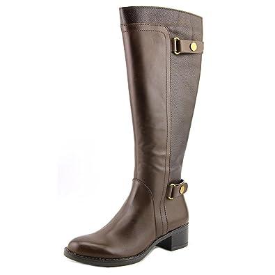 Womens Crash Leather Almond Toe Mid-Calf Fashion Boots