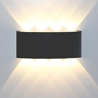 Lámparas Apliques De Pared,8W Modern Led Luz Lámpara de pared aluminio Impermeable IP65 Lamparas