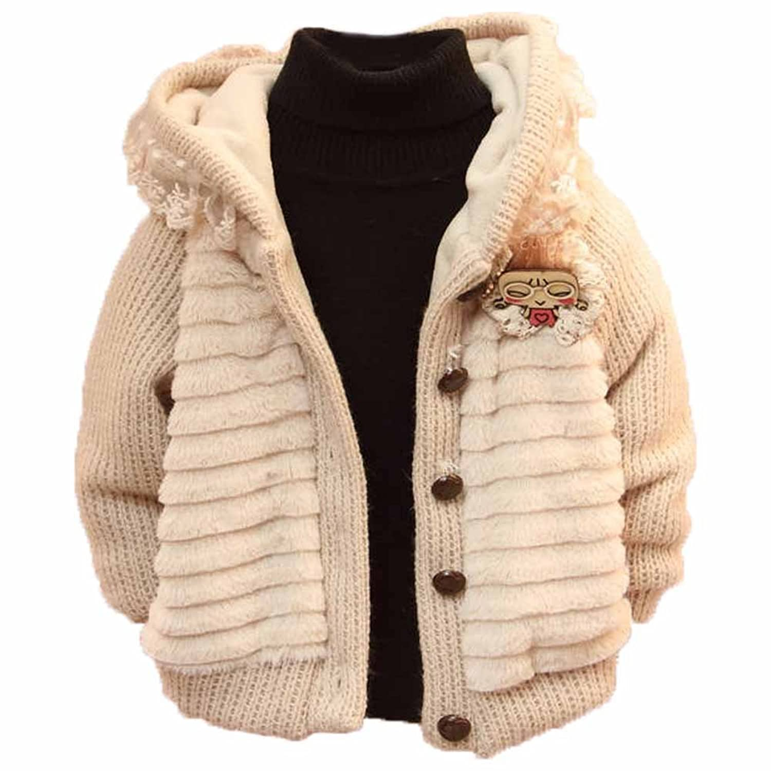 Toddler Baby Girls Long Sleeve winter Warm Cardigan Sweater Clothes