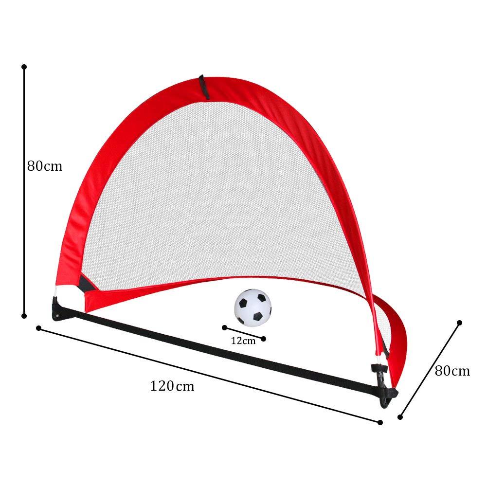 Nuheby Cage de Foot 2 Goal Football Pliable Portable but football avec Sac de Football-But de Foot Jeux Exterieur Enfant Interieur Loisir Sport
