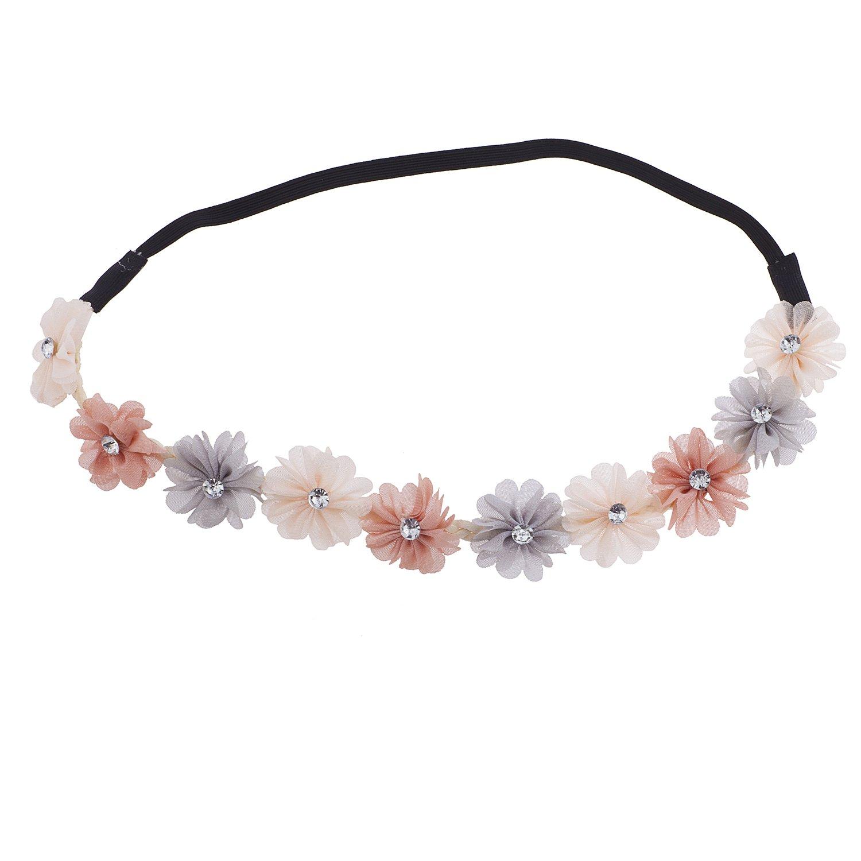 Cheap lux accessories multi color chiffon rhinestone flower crown cheap lux accessories multi color chiffon rhinestone flower crown floral headband headwrap izmirmasajfo