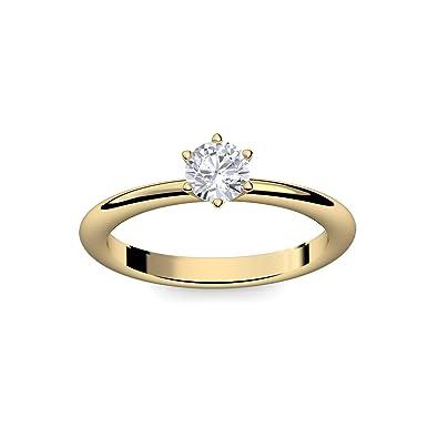 Weißgold Zirkonia Größen: 50-60 Solitär Ring Gold 333 Verlobungsring
