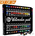 Watercolor Painting Kit, 24 Colors - Premium Quality High - Eco Friendly (MSDS)