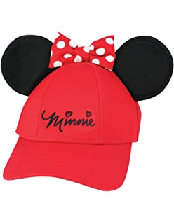 4bf2c6dd4 Amazon.com: Disney Women's Minnie Mouse Bow Ears Baseball Hat (Red ...