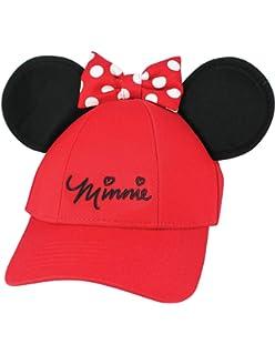 3d88af5080f Amazon.com  Disney Minnie Mouse Polka Dot Bow Womens Baseball Hat ...