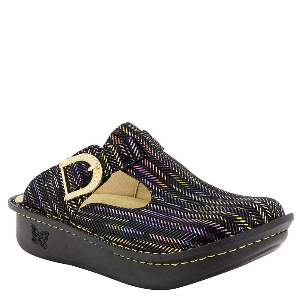 Alegria Womens Classic Chained Gold Clog - 37