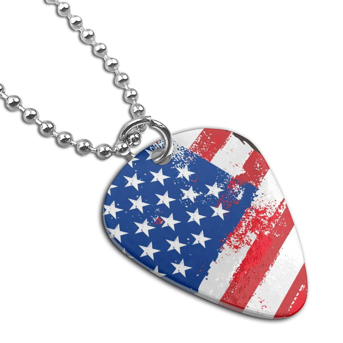 American Flag And Liberty Custom Guitar Pick Pendant Necklace Keychain