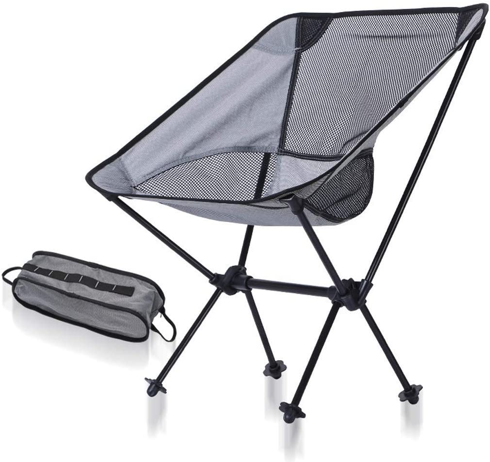 hgfg Chaise pliante en plein air ultra léger portable